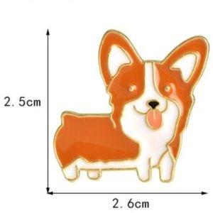 5/$24 Corgi Puppy Dog Pin Brooch